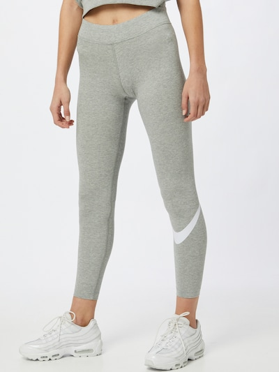 Nike Sportswear Sporthose in graumeliert / weiß, Modelansicht