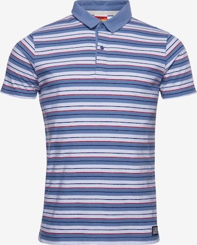 Superdry Polohemd in blau / blutrot / weiß, Produktansicht