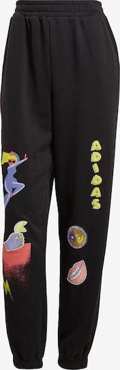 ADIDAS ORIGINALS Sportbroek 'Fakten' in de kleur Geel / Lila / Watermeloen rood / Zwart, Productweergave