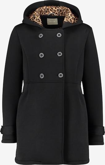 Amber & June Übergangsjacke mit Kapuze in schwarz, Produktansicht