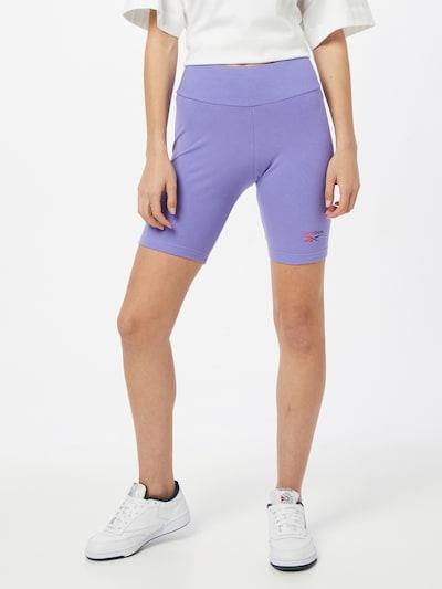 Reebok Classic Foundation Leggings in lila / pink / schwarz, Modelansicht