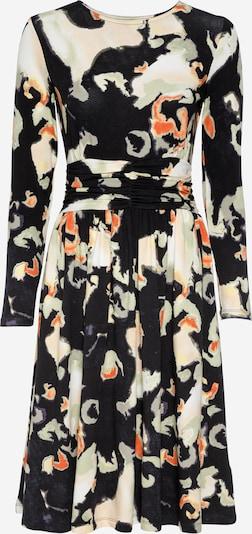 Thought Kleid 'MELATO' in khaki / dunkelorange / schwarz / weiß, Produktansicht
