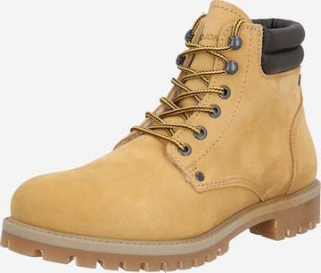 JACK & JONES Boots med snörning i gul