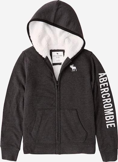 Abercrombie & Fitch Sweatjacke in schwarzmeliert / weiß, Produktansicht