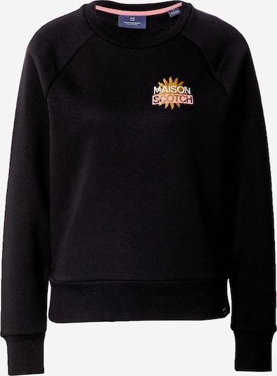 SCOTCH & SODA Sweat-shirt en jaune foncé / noir / blanc, Vue avec produit