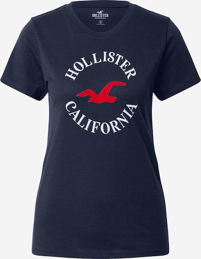 HOLLISTER Tričko - námořnická modř / ohnivá červená / bílá, Produkt