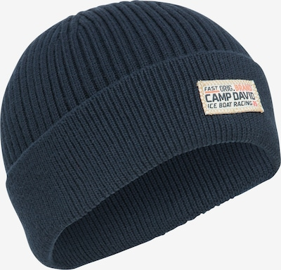 CAMP DAVID Strickmütze mit Label Patch in dunkelblau, Produktansicht