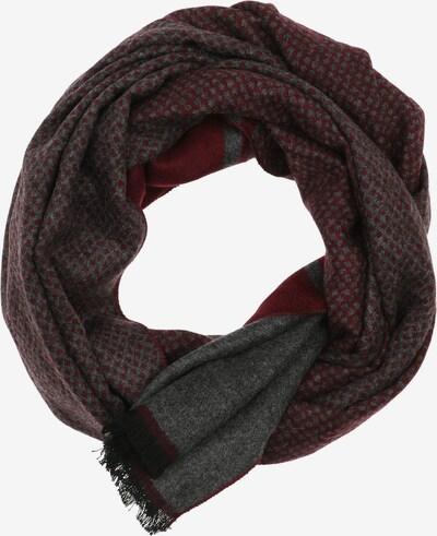 Casa Moda Sjaal in de kleur Grijs / Rood / Zwart, Productweergave