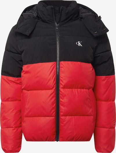 Geacă de iarnă Calvin Klein Jeans pe roșu / negru, Vizualizare produs