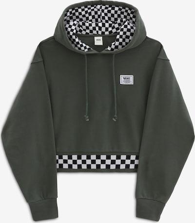 VANS Sweatshirt 'Boom Booom' in dunkelgrün / schwarz / weiß: Frontalansicht
