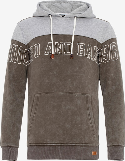 CIPO & BAXX Kapuzensweatshirt in hellgrau / dunkelgrau, Produktansicht