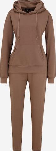 Missguided Petite Buksedrakt i brun