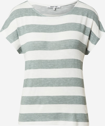 ABOUT YOU Shirt 'Lamya' in de kleur Groen / Wit, Productweergave