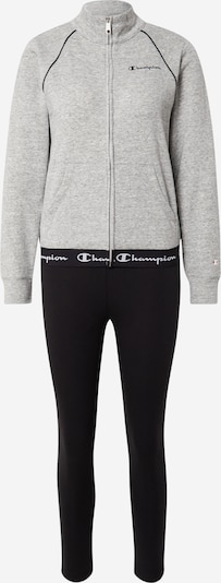 Champion Authentic Athletic Apparel Survêtement en gris chiné / noir / blanc, Vue avec produit