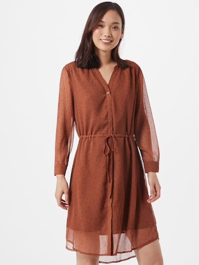 SELECTED FEMME Kleid in braun / rostbraun, Modelansicht