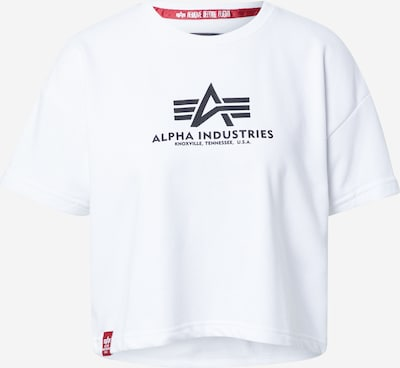 ALPHA INDUSTRIES Tričko - tmavomodrá / biela, Produkt