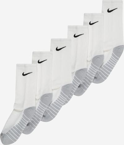 NIKE Спортни чорапи в светлосиво / черно / бяло, Преглед на продукта