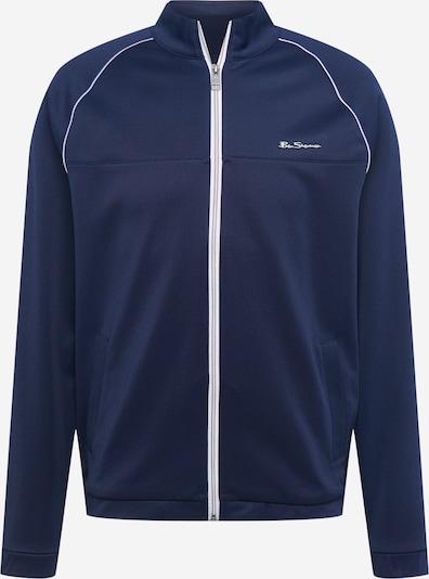 Ben Sherman Tepláková bunda - námornícka modrá / biela, Produkt