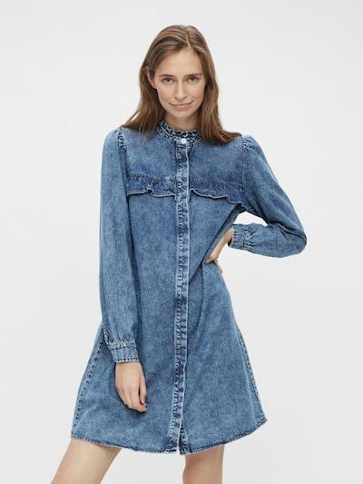 PIECES Kleid 'PCFIFI' in blau, Modelansicht