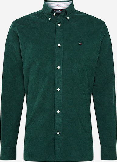 TOMMY HILFIGER Košeľa 'Flex' - tmavomodrá / tmavozelená / červená / biela, Produkt