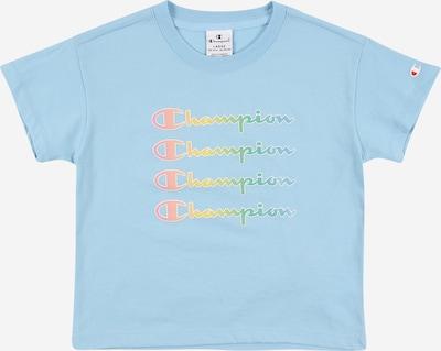 Champion Authentic Athletic Apparel T-Shirt in hellblau / hellgrün / orange / lachs / weiß, Produktansicht