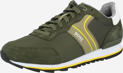 sárga / khaki / fehér BOSS Rövid szárú edzőcipők, Termék nézet