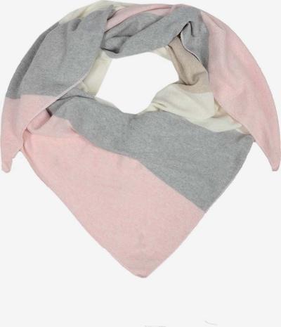 Zwillingsherz Tuch in hellgrau / rosa / wollweiß, Produktansicht