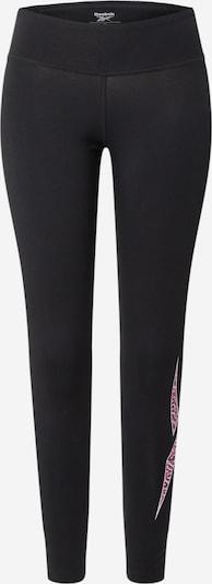 Reebok Sport Pantalon de sport en rose / noir / blanc, Vue avec produit
