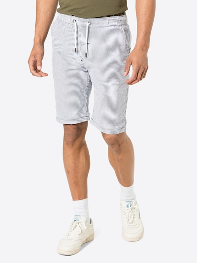 !Solid Nohavice - modrosivá / biela, Model/-ka