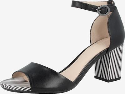 GERRY WEBER Sandalette 'Letizia' in schwarz / weiß: Frontalansicht