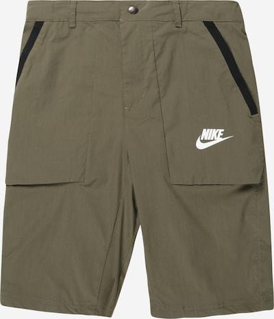 Nike Sportswear Shorts in oliv / schwarz / weiß, Produktansicht