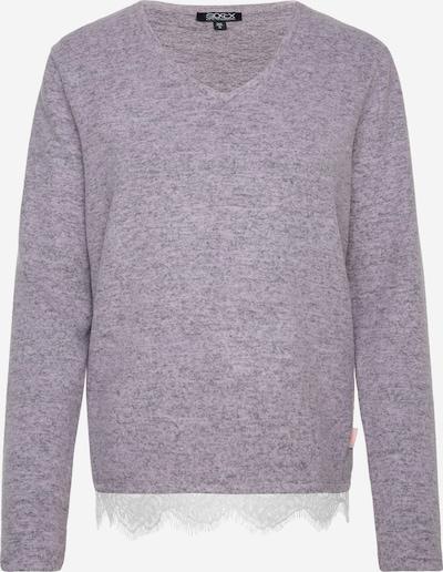 Soccx Pullover mit Spitzensaum in lilameliert, Produktansicht