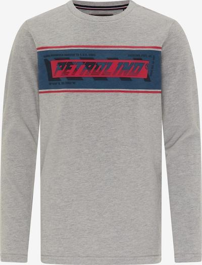 Petrol Industries Shirt in royalblau / grau / rot, Produktansicht