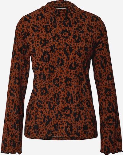 TOM TAILOR DENIM Shirt in hellbraun / schwarz, Produktansicht