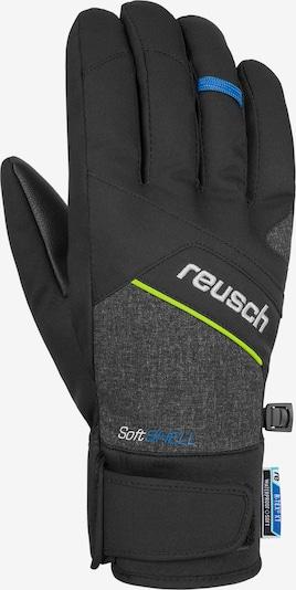 REUSCH Fingerhandschuh 'Luke R-TEX® XT' in gelb / schwarzmeliert, Produktansicht