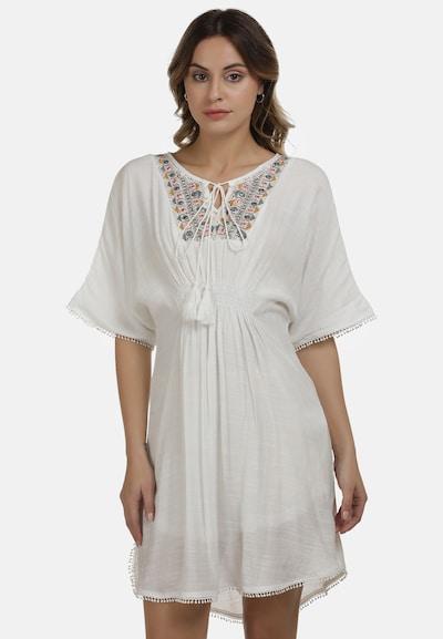 DreiMaster Vintage Sommerkleid in mischfarben / weiß, Modelansicht