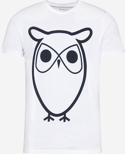 KnowledgeCotton Apparel T-Shirt 'ALDER' in schwarz / weiß, Produktansicht
