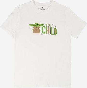 T-Shirt 'Mandalorian' Mister Tee en blanc