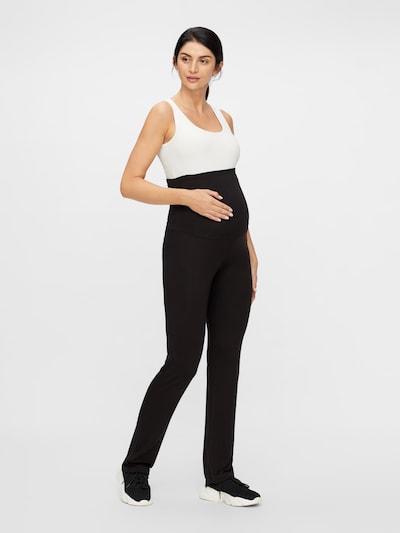 MAMALICIOUS Hose 'NEW ROSA JERSEY YOGA PANT' in schwarz, Modelansicht