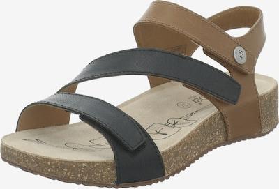 JOSEF SEIBEL Sandale 'Tonga 67' in braun / schwarz, Produktansicht