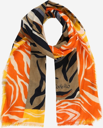 CODELLO Halsduk 'SAFARI' i beige / brun / gul / orange / svart, Produktvy
