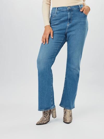 Levi's® Plus Jeans in blue denim, Modelansicht