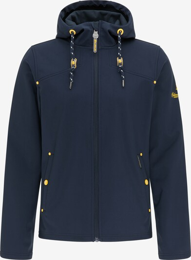 Schmuddelwedda Functional jacket in marine / neon yellow, Item view