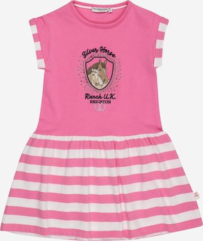 SALT AND PEPPER Kleid in braun / cappuccino / pink / schwarz / weiß, Produktansicht