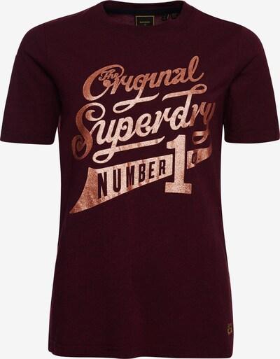 Superdry T-Shirt in gold / bordeaux, Produktansicht