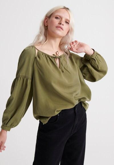Superdry Oberteil 'Arizona Peek A Boo' in khaki, Modelansicht