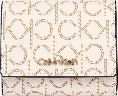 Calvin Klein Rahakott 'TRIFOLD' kreem / pruun, Tootevaade