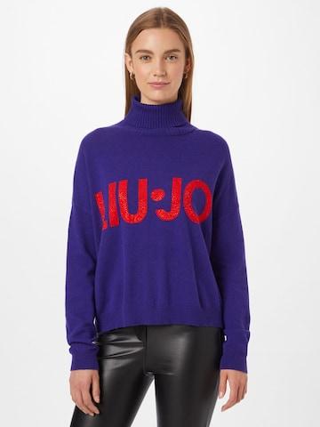 Pull-over 'MAGLIA CHIUSA' LIU JO JEANS en violet