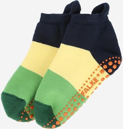 FALKE Socken in navy / hellgelb / grün / orange, Produktansicht