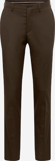 SELECTED HOMME Bukser med lægfolder i mørkebrun, Produktvisning